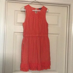 Summer Orange  dress size 10 WITH pockets!!